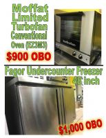 Lightly Used Freezer & Conventional Oven